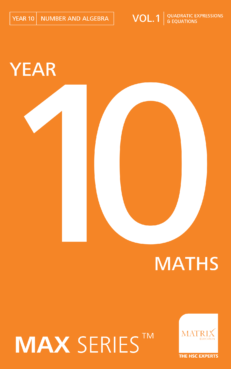 year 10 maths quadratic expressions and equations revision workbook banner image