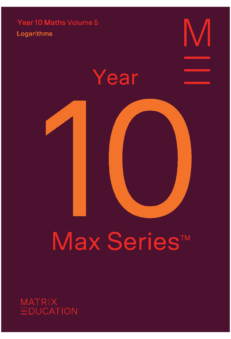 book cover for year 10 max series volume 5 logarithms